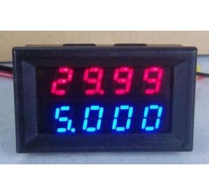 Цифровой вольтметр/амперметр DC 200V 10A