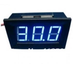 Цифровой вольтметр +- 4,5...30В синий