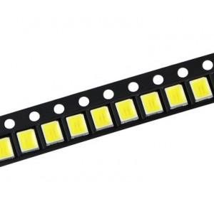 5050 SMD  LED White 6500K, 3.0-3.2V, 150мА, 30-40lm