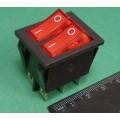 KCD3 переключатель с подсветкой (две клавиши)